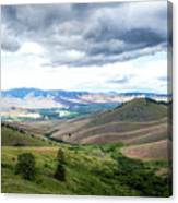 Thunderclouds Over The Hills Canvas Print
