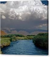 2a6738-thunderhead Over Owens River  Canvas Print
