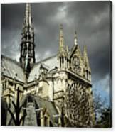 Thunderous Notre Dame Canvas Print