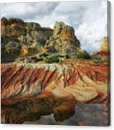 Thunderstorms Pass Over The Spectacular Formations Of White Pocket, Arizona. Canvas Print
