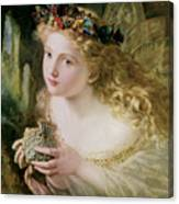 Thus Your Fairy's Made Of Most Beautiful Things Canvas Print