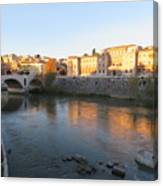 Tiber River Early Morning Canvas Print