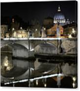 Tiber's Reflection Of Religion Canvas Print