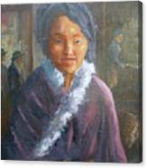 Tibetan Fur Coat Canvas Print