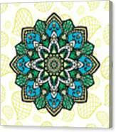Tibetan Mandala Seamless Pattern Canvas Print
