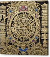Tibetan Thangka - Tibetan Astrological Diagram Canvas Print