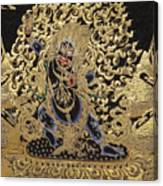 Tibetan Thangka - Vajrapani - Protector And Guide Of Gautama Buddha Canvas Print