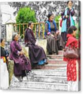 Tibetan Women Waiting Canvas Print