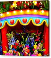 Ticket Booth Of Flowers Canvas Print