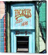 Ticket Window For Show Tickets Canvas Print