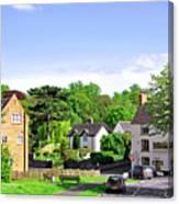 Ticknall Village From Ingleby Lane Canvas Print