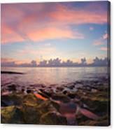 Tidal Pools At Sunrise Canvas Print