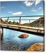 Tidal River Bridge Canvas Print