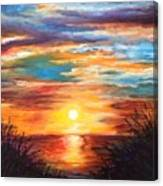 Tide Marsh Sunset Canvas Print