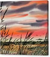 Tideland Sunset Canvas Print