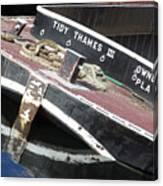 Tidy Thames Canvas Print