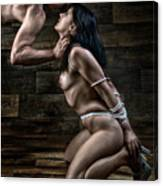 Tied Nude Submission And Domination - Fine Art Of Bondage Canvas Print