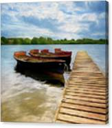 Tied To The Jetty Canvas Print