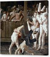 Tiepolo: Acrobats, 18th C Canvas Print