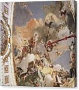 Tiepolo Palacio Real The Apotheosis Of The Spanish Monarchy Giovanni Battista Tiepolo Canvas Print