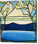Tiffany And Blossoms Stained Glass Canvas Print