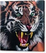 Tigar Snarl Canvas Print