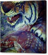 Tiger And Deer Canvas Print