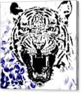 Tiger And Paisley Canvas Print