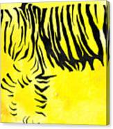 Tiger Animal Decorative Black And Yellow Poster 2 - By Diana Van Canvas Print