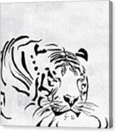 Tiger Animal Decorative Black And White Poster 1 - By  Diana Van Canvas Print
