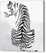 Tiger Animal Decorative Black And White Poster 4 - By  Diana Van Canvas Print