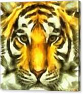 Tiger Painted Canvas Print