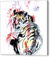 Tiger Siesta Canvas Print