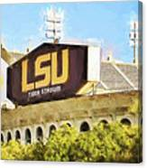 Tiger Stadium - Digital Painting Canvas Print