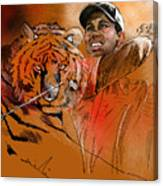 Tiger Woods Or Earn Your Stripes Canvas Print