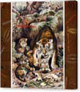 Tigers For Responsible Tourism Canvas Print