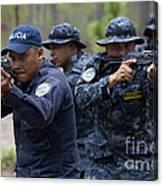 Tigres Commandos Conduct Bounding Canvas Print