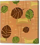 Tiki Lounge Wallpaper Pattern Canvas Print