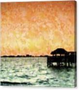Tiki Sunset Canvas Print