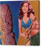 Tiki Tarts- I Love Nobody But Uke Baby Canvas Print
