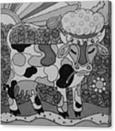 Tile Cow Canvas Print