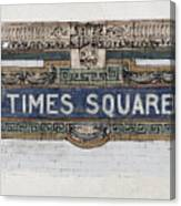 Tile Mosaic Sign, Times Square Subway New York, Handmade Sketch Canvas Print