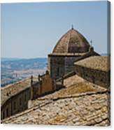 Tile Roof Tops Of Volterra Italy Canvas Print
