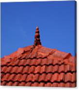 Tiled Roof Near Ooty, India Canvas Print