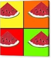 Tiled Watermelon Canvas Print