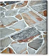 Tiles From Sandstone Quarried Stone Canvas Print