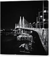 Tilikum Crossing Cutting Through The Night Canvas Print