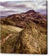Tilt-shift Mountain Peak Canvas Print