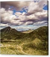 Tilt-shift Mountain Road Canvas Print