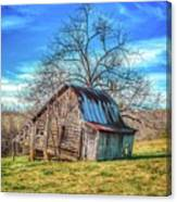 Tilted Log Cabin Canvas Print